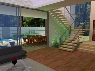 Espaço com conceito aberto e transparência Corredores, halls e escadas modernos por ARQUITETURA e ESTILO Moderno