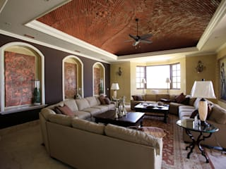 Colonial style living room by DHI Riviera Maya Architects & Contractors Colonial