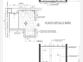 Plano Detalle Baño:  de estilo  por Dsg Arquitectura