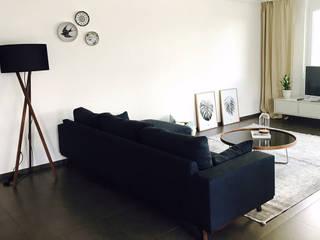 Interior Design Service: Expat-Wohnung Moderne Wohnzimmer von The Harrison Spirit Modern