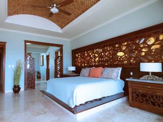 Villa coquí: Recámaras de estilo  por DHI Riviera Maya Architects & Contractors