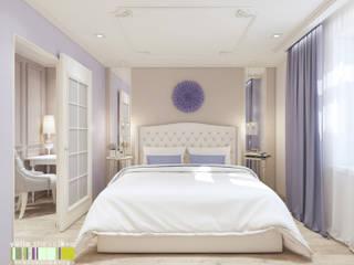 クラシカルスタイルの 寝室 の Мастерская интерьера Юлии Шевелевой クラシック