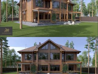 AD_141 Дом из кедра. от ZAPROVSKY Архитектурная мастерская Классический