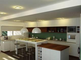 Render y Ejecución Mueble de Cocina de Dsg Arquitectura Moderno