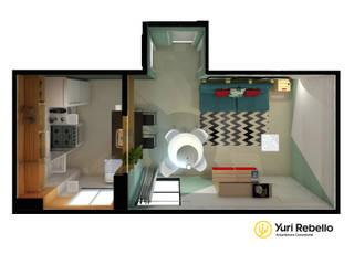 Apartamento Tropicália: Salas de jantar  por Yuri Rebello - Arquitetura Consciente
