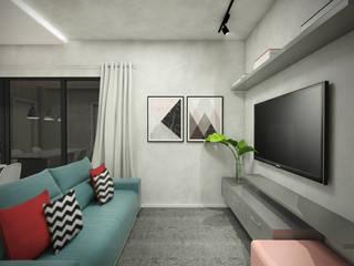 Sala de Estar - Apt GD: Salas de estar  por Yuri Rebello - Arquitetura Consciente