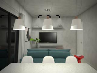 Apartamento GD: Salas de jantar  por Yuri Rebello - Arquitetura Consciente