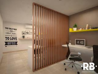Oficina 01: Estudios y oficinas de estilo  por RB Arquitectos