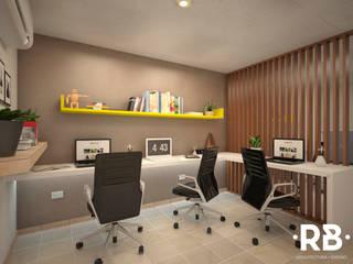Oficina 02: Estudios y oficinas de estilo  por RB Arquitectos