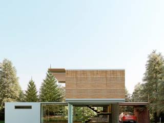 Fachada en el entorno:  de estilo  por A11 Estudio | Arquitectura | Visualizacion | Construccion | Interiorismo