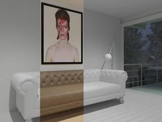 Sala superior:  de estilo  por A11 Estudio | Arquitectura | Visualizacion | Construccion | Interiorismo