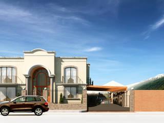 Fachada Principal:  de estilo  por A11 Estudio | Arquitectura | Visualizacion | Construccion | Interiorismo