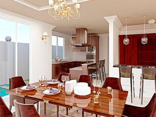 Comedor-Cocina:  de estilo  por A11 Estudio | Arquitectura | Visualizacion | Construccion | Interiorismo