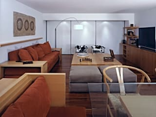 Departamento FM: Salas de estilo  por VÁZQUEZ DEL MERCADO - ARQUITECTURA