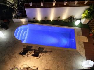 千葉県 展示場(6.0m×3.0m レクタングル形状): プールカンパニー 株式会社プロスパーデザイン プール事業部が手掛けた家庭用プールです。