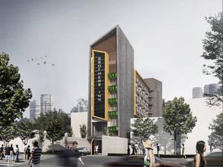 HOSPITALITY Hoteles de estilo rústico de IMG ARCHITECTS Rústico