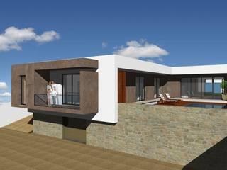 Casa HC: Casas  por Sandra Ferreira, Arquitetura,Moderno