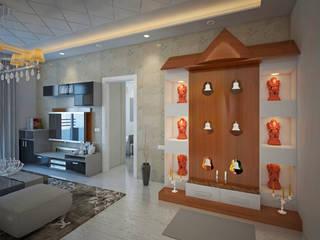 SNN Raj Serenity, 2 BHK - Mr. Deepak Tropical style living room by DECOR DREAMS Tropical
