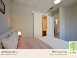 RENOVACION PISO ECOLOGICO GRAPHENSTONE Dormitorios de estilo moderno