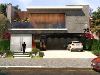 RESIDENCIA S&N: Casas  por AT ARQUITETURA E INTERIORES