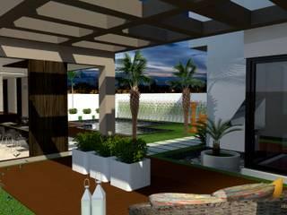 Residencia MS: Casas familiares  por JDM Arquitetura e Urbanismo ,Moderno