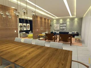 Apartamento MO: Salas de estar  por Assis Sercheli Arquitetura