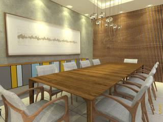Apartamento MO: Salas de jantar  por Assis Sercheli Arquitetura
