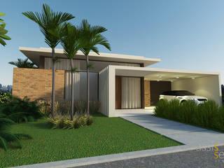Residencia LM: Casas familiares  por Assis Sercheli Arquitetura,