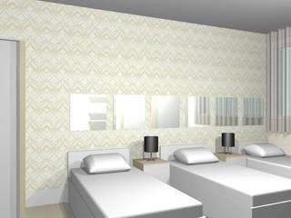 Apartamento residencial - Barra da Tijuca - RJ: Quartos  por tsmarquiteto,Moderno