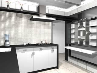 Apartamento residencial Morumbi: Cozinhas embutidas  por tsmarquiteto,Eclético