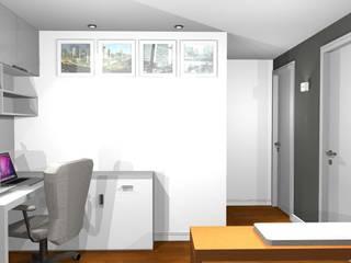 Apartamento residencial Morumbi: Escritórios  por tsmarquiteto,Eclético