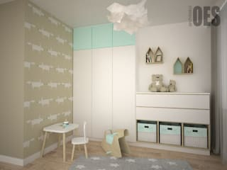 OES architekci Modern nursery/kids room Copper/Bronze/Brass Amber/Gold