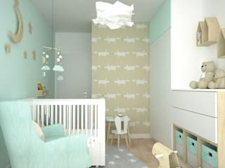 OES architekci Modern Kid's Room Wood Beige
