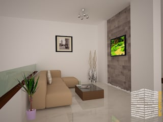 Media room by HHRG ARQUITECTOS, Modern