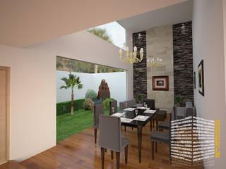 Living room by HHRG ARQUITECTOS, Modern