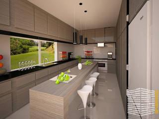 Встроенные кухни в . Автор – HHRG ARQUITECTOS, Модерн