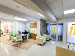 GYA Mimarlık | İç Mimarlık – Bekleme Bölümü:  tarz Klinikler