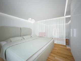 Casa B: Camera da letto in stile  di Studio di architettura Polisano