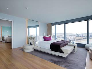 Rehabilitación Hotel W Barcelona: Dormitorios de estilo  de GRAPHENSTONE