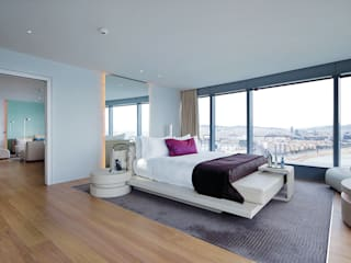 Rehabilitación Hotel W Barcelona GRAPHENSTONE Dormitorios de estilo moderno