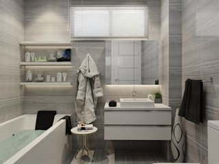 Aker Evi- Antalya Modern Banyo PRATIKIZ MIMARLIK/ ARCHITECTURE Modern