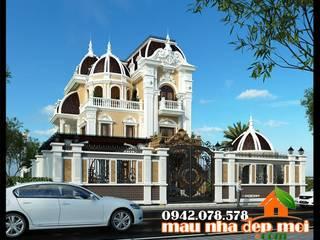 Mẫu biệt thự cổ điển 3 tầng kiến trúc Pháp Công ty TNHH TKXD Nhà Đẹp Mới Biệt thự
