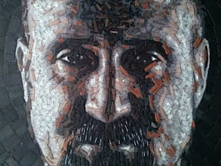 Retratos en pintura con aplicaciones en piel (cuero):  de estilo  por Neftalí Camacho Art