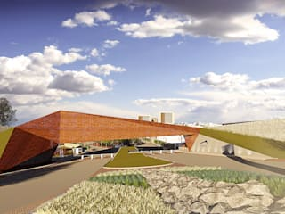 CASETA DE ACCESO 2: Condominios de estilo  por TDT Arquitectos