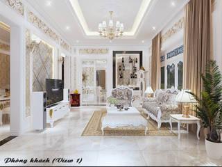 Livings de estilo clásico de Công ty Kiến trúc Á Âu Clásico