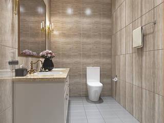 Biệt thự Trưng Nữ Vương - Đà Nẵng:  Phòng tắm by Công ty Kiến trúc Á Âu