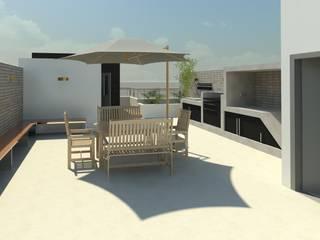 Terraza en azotea en San Antonio de ACD arquitectos