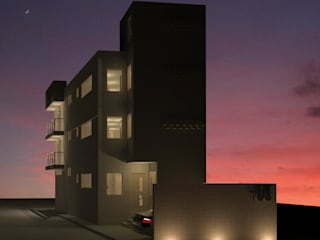 Vista nocturna :  de estilo  por ACD arquitectos