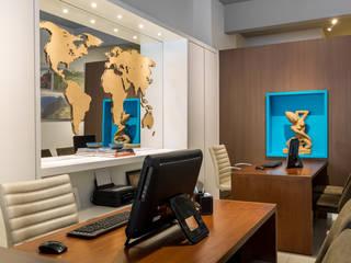 Agência de Turismo Sabai_40m² Espaços comerciais modernos por Carolina Kist Arquitetura & Design Moderno