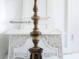 Maisondora Vintage Living SalonEclairage Bois Ambre/Or